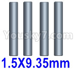 Wltoys 124018 Parts Cardan shaft(4pcs)-1.5x9.35mm-124018.1274