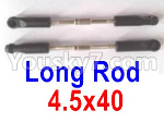 Wltoys 124018 Parts Long rod assembly(2pcs)-4.5x40-124018.1289
