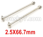 Wltoys 124018 Parts Dog Bone(2pcs)-2.5x66.7mm-124018.1281