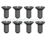 Wltoys 124018 Parts Cross Flat head tooth screw -2.5X8kM-8pcs-12428.0114
