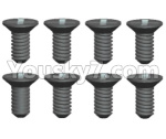 Wltoys 124018 Parts Cross Flat head Self-tapping screws-2.6x5KB D4.5-8pcs-124018.1323