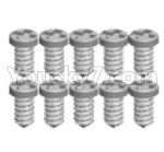 Wltoys 124018 Parts Cross Pan head tooth screw -2X7PB-8pcs-A979-4.0582
