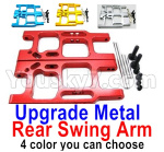 Wltoys 124018 Parts Upgrade Rear Metal Swing Arm-4 Color you can choose