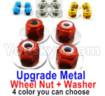 Wltoys 124018 Parts Upgrade Metal Nut for the Wheel + Washer-4 set-4 Color you can choose