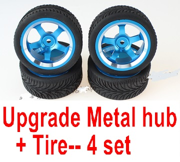 Wltoys 124018 Parts Upgrade Metal wheel hub+ Tire-4 set
