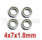 Wltoys 124018 Parts Ball bearing 4X7X1.8mm-4pcs-124018.1296