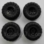 Wltoys 24438 Car Spare Parts-0174 Wheel unit(4pcs)