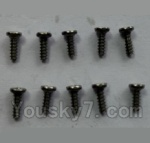 Wltoys 24438 Car Spare Parts-0202 Round-Head Self-tapping screws(10pcs)-M1.4x4