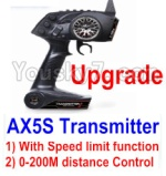 Wltoys A202 A212 A222 A232 A242 A252 Parts-33 Upgrade AX5S Transmitter(With Speed Limit function,0-200M control)