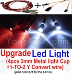 Wltoys A202 A212 A222 A232 A242 A252 Parts-38 Upgrade LED Light set(Include the Upgrade LED light and 1-TO-2 Conversion wire)