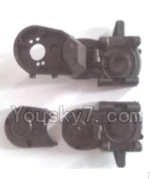 Wltoys A323-08-07 A303-06 Spare Parts- Gearbox unit(Upper and bottom Gear box cover & Dust cover)
