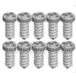 Wltoys A323-32 Spare Parts- Cross recessed tapping round head Screws(M1.7X6 PB)-10PCS