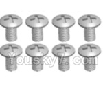 Wltoys A323-38 Spare Parts- Cross recessed round head screws(M3X14 PM)-8pcs
