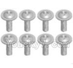 Wltoys A323-39 Spare Parts- Cross recessed round head screwS(M2.6X6 PWB)-8pcs
