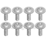 Wltoys A323-43 Spare Parts- Round head screw with dielectric(M2.5X6X6)-8pcs