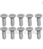 Wltoys A323-44 Spare Parts-L959-54 Countersunk head self tapping screw(M2.6X8)-10pcs