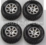 Wltoys A949 Parts-46 Official Wheel(2pcs Left and 2pcs Right Wheel)
