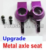 Wltoys A949 Parts-68 Upgrade Metal axle seat-Purple