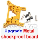 Wltoys A949 Parts-78 Upgrade Metal shockproof board-Gold