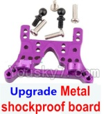 Wltoys A949 Parts-79 Upgrade Metal shockproof board-Purple