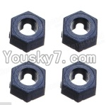 Wltoys A959 Parts-41 Official Hexagonal round seat(4pcs)