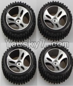 Wltoys A959 Parts-46 Official Wheel(2pcs Left and 2pcs Right Wheel)