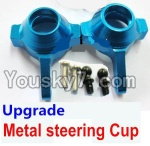Wltoys A959 Parts-69 Upgrade Metal steering Cup-Blue