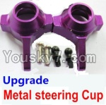 Wltoys A959 Parts-70 Upgrade Metal steering Cup-Purple