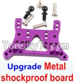 Wltoys A959 Parts-78 Upgrade Metal shockproof board-Gold