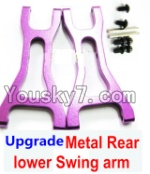 Wltoys A959 Parts-85 Upgrade Metal Rear lower Swing arm,Lower Suspension Arm(2pcs)-Purple