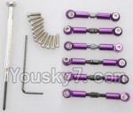Wltoys A969-B-03-03 Parts-Upgrade Metal Connect buckle,Trolley(6pcs)-Purple