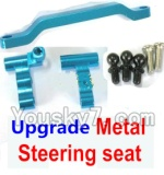 Wltoys A969-B-11-03 Parts-Ugrade Metal Steering seat-Blue