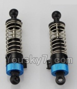 Wltoys A969-B-12-02 Parts-Official Rear Shock Absorber(2pcs)-Blue
