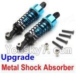 Wltoys A969-B-12-03 Parts-Upgrade Metal Shock Absorber(2pcs)-Blue