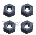 Wltoys A969-B-15-05 Parts-A949-11 Official Hexagonal round seat(4pcs)
