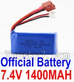 Wltoys A969-B-23-01 Parts-Official 7.4v 1400mah Battery with T-shape Plug