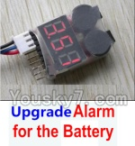 Wltoys A969-B-23-05 Upgrade Alarm for the Battery,Can test whether your battery has enouth power