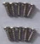 Wltoys A969-B-36 Parts-A9A9-39 Round head self-tapping screws-M2X7(10PCS)