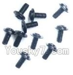 Wltoys A969-B-39 Parts-A949-43 Round with referral screws-M2.5X6X6(10PCS)