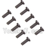 Wltoys A969-B-41-02 Parts-A949-47 Countersunk head self-tapping screws-M2X6(10PCS)