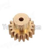Wltoys A969 Parts-16 Copper motor Gear(1pcs)-0.7 Modulus