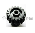 Wltoys A969 Parts-17 Upgrade motor Gear(1pcs)-0.7 Modulus-Black