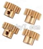 Wltoys A969 Parts-18 Copper motor Gear(4pcs)-0.7 Modulus