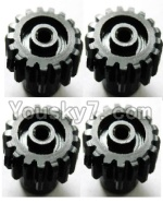 Wltoys A969 Parts-19 Upgrade motor Gear(4pcs)-0.7 Modulus-Black