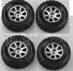 Wltoys A969 Parts-46 Official Wheel(2pcs Left and 2pcs Right Wheel)