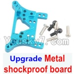 Wltoys A969 Parts-77 Upgrade Metal shockproof board-Blue
