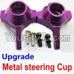 Wltoys A979 Parts-70 Upgrade Metal steering Cup-Purple