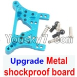 Wltoys A979 Parts-77 Upgrade Metal shockproof board-Blue