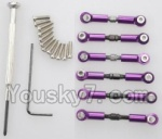 Wltoys K929-B-04-09 Parts-Upgrade Metal Connect buckle,Trolley(6pcs)-Purple
