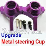 Wltoys K929-B-04-20 Parts-Upgrade Metal steering Cup-Purple